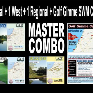 Golf Michiana MASTER COMBO Local West Regional SWM Golf Gimme Card