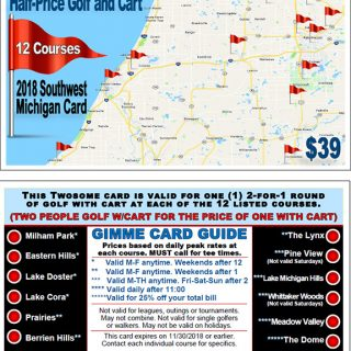 Golf Michiana Golf Gimme Card
