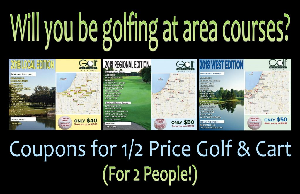 Golf Michiana Indiana Card Display