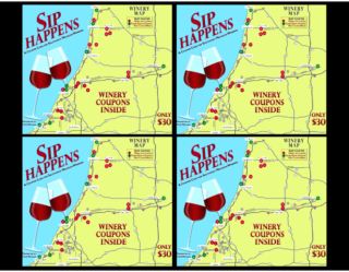 Sip Happens Winery Coupon Card - 4-Pack