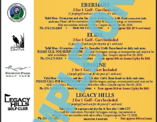 2020 Golf Michiana Local Left-side Sample Coupons