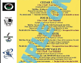 2020 Golf Michiana Local Right-side Sample Coupons
