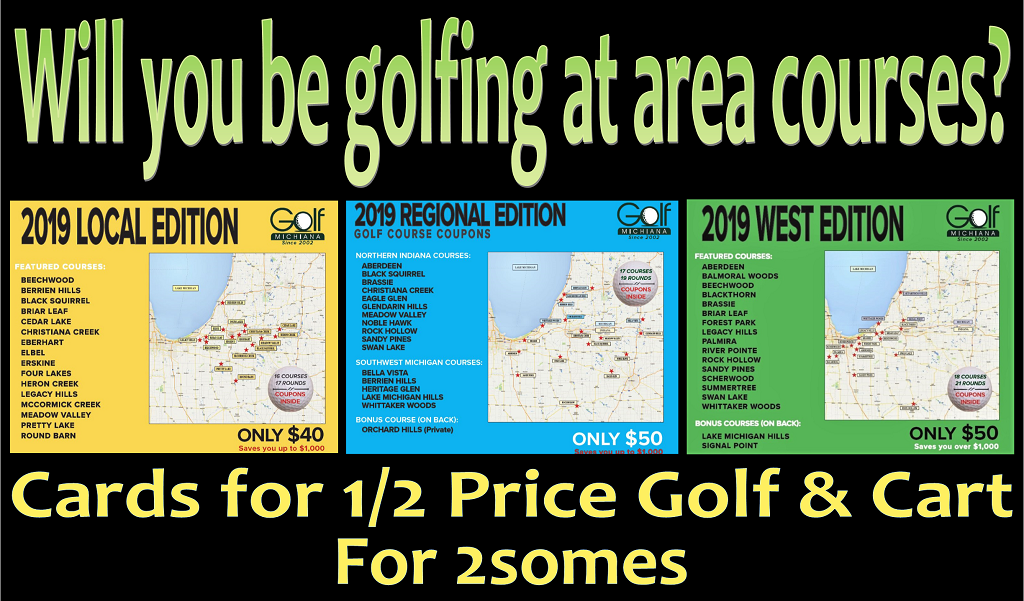 Golf Michiana Card Display 2019