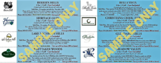 Golf Michiana West Top Half Coupon Samples 2019