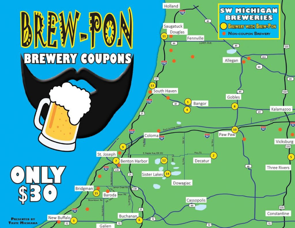 BREW-PON BREWERY COUPON CARD COVER