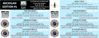 Michiga Mini Edition #3 Sample Coupons Golf Michiana