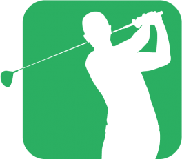 Green Shadow Golfer