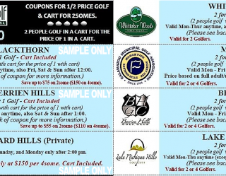 Michigan Mini Edition #7 Sample Coupons Golf Michiana