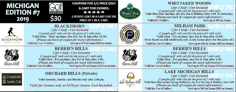 Michigan Mini Edition #7 Sample Coupons Golf Michiana