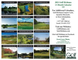 2021 Golf Courses of Michiana Calendar - Back Cover Compressed